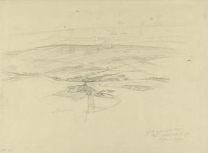 Sketch for 'Flying Above Kirkuk, Kurdistan, 1919' (IWM ART 4638)