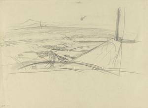 Sketch for 'Flying Above Kirkuk, Kurdistan, 1919' (IWM ART 4637)