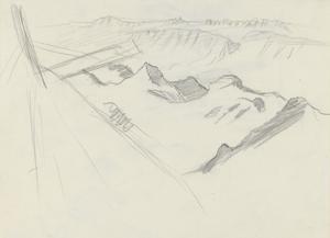 Aerial View of a Peak, 1919