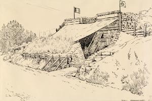 Promontoire, 1917 : a dug-out