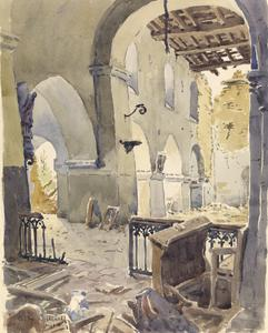 Treslon, Church Interior, 1918