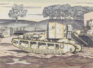 A Whippet Tank - The Experimental Ground, Dollis Hill, London, N.W.