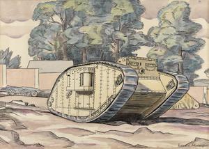A Mark IV Female Tank - The Experimental Ground, Dollis Hill, London, N.W.
