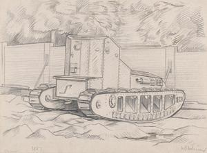 A Whippet Tank at the Dollis Hill Experimental Ground