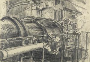 The Interior of a Turret, HMS Revenge