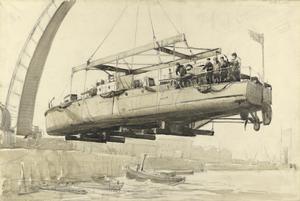 Hoisting a Motor Launch