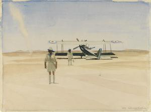 Forced Landing in the Desert of a British BE2E near Nasarije, Mesopotamia, September 1919