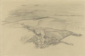 Aerial View of a Village on the Asiago Plateau, Italy, 1918