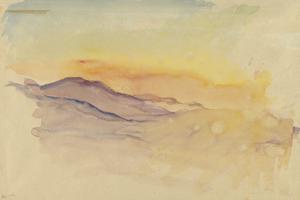 Sunset over the Italian Alps, 1918