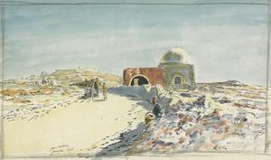 Rachel's Tomb, on the road between Bethlehem and Jerusalem