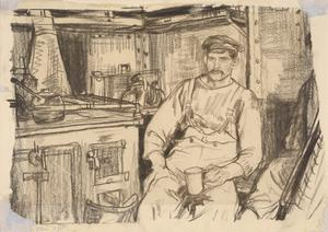 A Cook in the Galley, HM Trawler Mackenzie