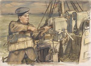 Cleaning the Gun, HM Trawler Mackenzie