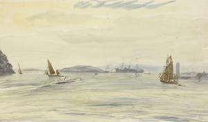 HM Submarines L6 and L8 making Plymouth Sound
