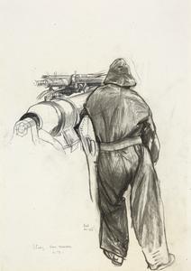 Study of a Gun's Trainer. HM Submarine L3