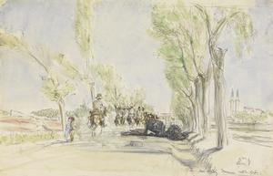 Entering Damascus: Australians galloping along the Beyrout Road.
