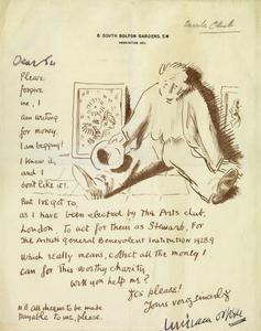 Appeal for Artist's General Benevolent Institution, 1928-1929