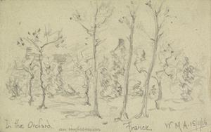 In the Orchard (An Impression). France, 15th November 1916