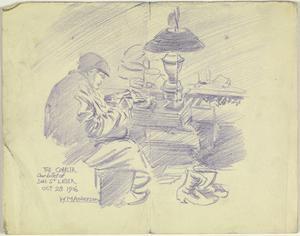 The Cobbler. Our Billet of Sus St Leger, 29 October 1916