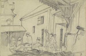 Soldiers in a Courtyard