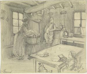 A Farmhouse Kitchen, France, 22nd January 1916
