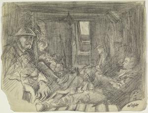 Interior of a Dug-out, 27 November 1916