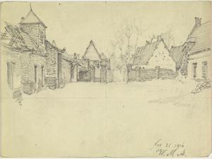 Farmyard, France, 21 November 1916