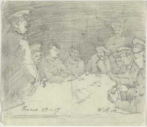 The Card Game, France, 27 January 1917