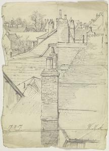 View over Rooftops, France, 17 March 1917