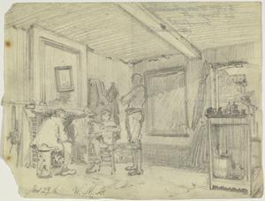 Interior of a Billet, France, 23 November 1916