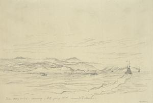 Evening, HMS Queen Elizabeth Rounding Point of Imbros, May 11th 1915