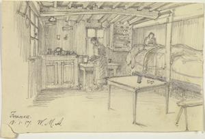 Interior of a Farmhouse, France, 18 January 1917