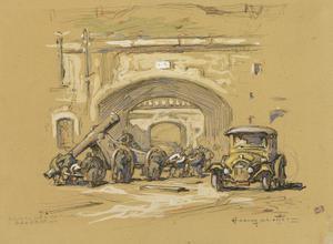 La Sortie d'une Piece, 3 Septembre 1914