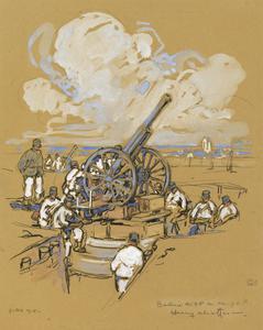 Batterie de 75 au Camp de P., Juillet 1915