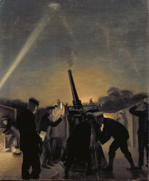 King's Cross Anti-aircraft Gun In Action