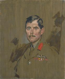 Major-General H.M. Trenchard, CB, DSO, RFC. Painted at General Headquarters, May 13th 1917