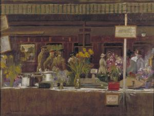The Soldiers' Buffet, Charing Cross Station, 1918