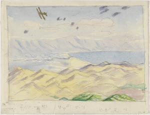 Aircraft over The Dead Sea
