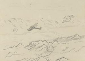 Study for 'The Dead Sea' (IWM ART 3079)