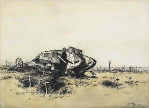 A Derelict Tank, D.22, 1917