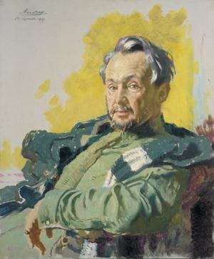 Monsieur R D de Maratray, a French War Correspondent. (Le Petit Journal).