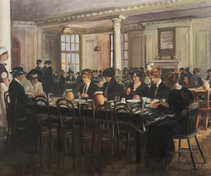 The Canteen at the Headquarters of the Joint War Council of the BRCS and Order of St John, 19 Berkeley Street, W