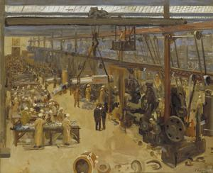 Scene at a Clyde Shipyard. (Messrs Beardmore & Co)
