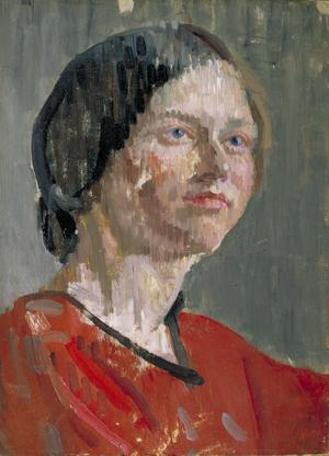 "Head of a Woman ""Grey and Red"", 1912"