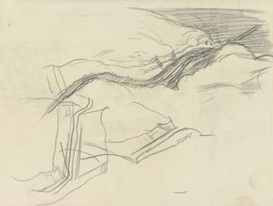 Sketch of the Gorge of the River Baroda, Lebanon, 1919