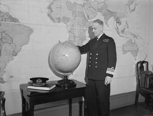 VICE ADMIRAL SIR E N SYFRET, KBE, VICE CHIEF OF NAVAL STAFF, LONDON, JANUARY 1944