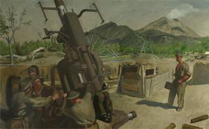 A 3.7 Anti-aircraft Gun of 393/72 HAA REGT, RA, CMF