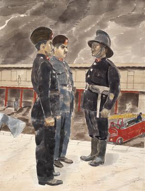 Baghdad: An Illustration of Iraqi Firemen's Uniforms