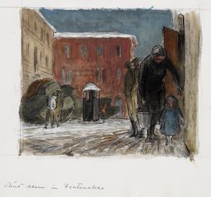 A Street Scene in Fontanelice