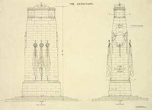 The Cenotaph : original design for the structure in Whitehall