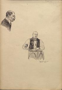 Sketches at St Omer - a pastor and another man